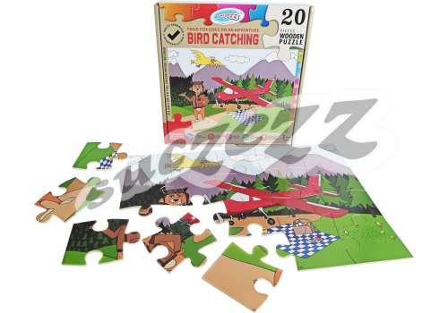 PUZZLE 20PC SUCZEZZ TODDFOX BIRDCATCHING