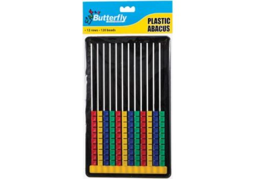 ABACUS 12 ROWS 120 SLIDES PLASTIC BFLY