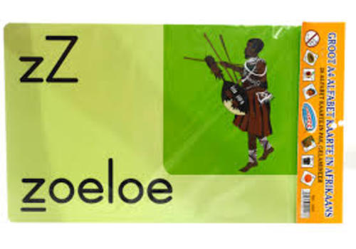 FLASH CARDS ALPHABET A4 AFR SUCZEZZ