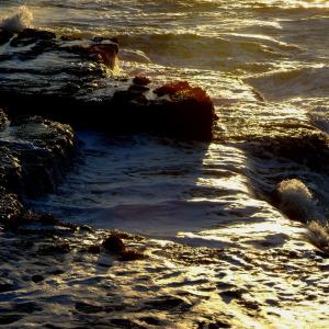 Early morning surf  Gwe Gwe - old Pondoland   coast