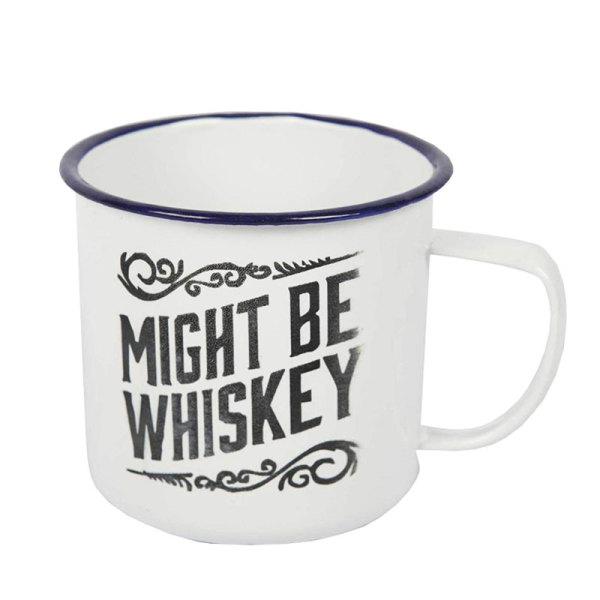 Enamel Mug - Might Be Whiskey