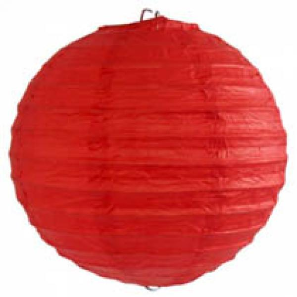 Red Wired Lantern (25cm)