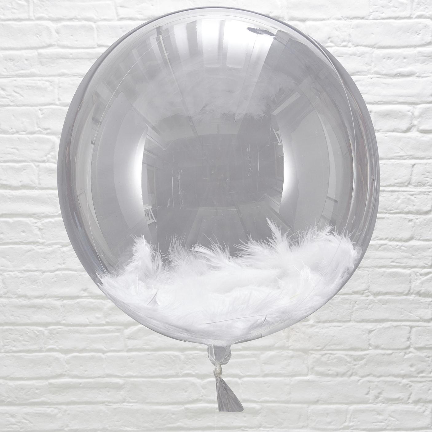 Beautiful Botanics Huge White Feather Balloon Orbs (3)