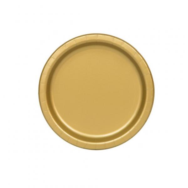 Gold Paper Plates Small (8)