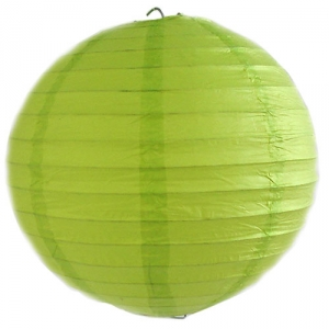 Large Lime Green Wired Lantern (30cm) 3piece