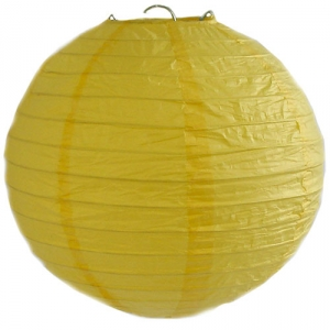 Yellow Wired Lantern (25cm)