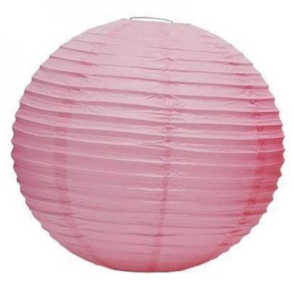 Light Pink Wired Lantern 30cm(3pp)