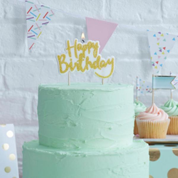 Pick & Mix - Happy Birthday Candle (Gold)