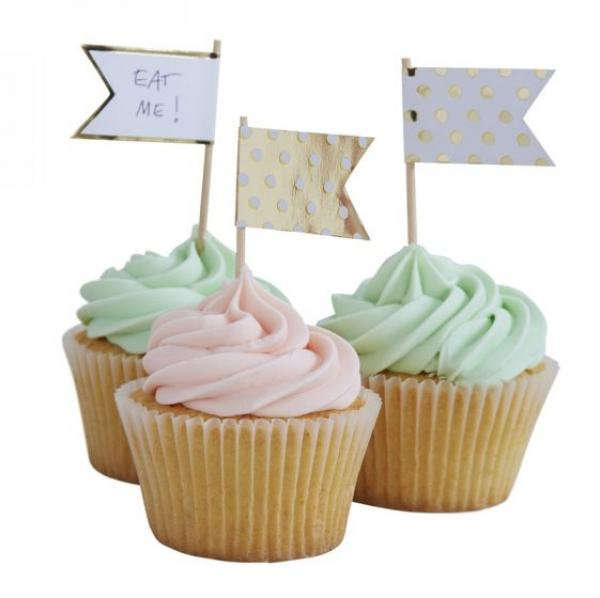 Pick & Mix Polka Dot Cupcake Sticks (10)