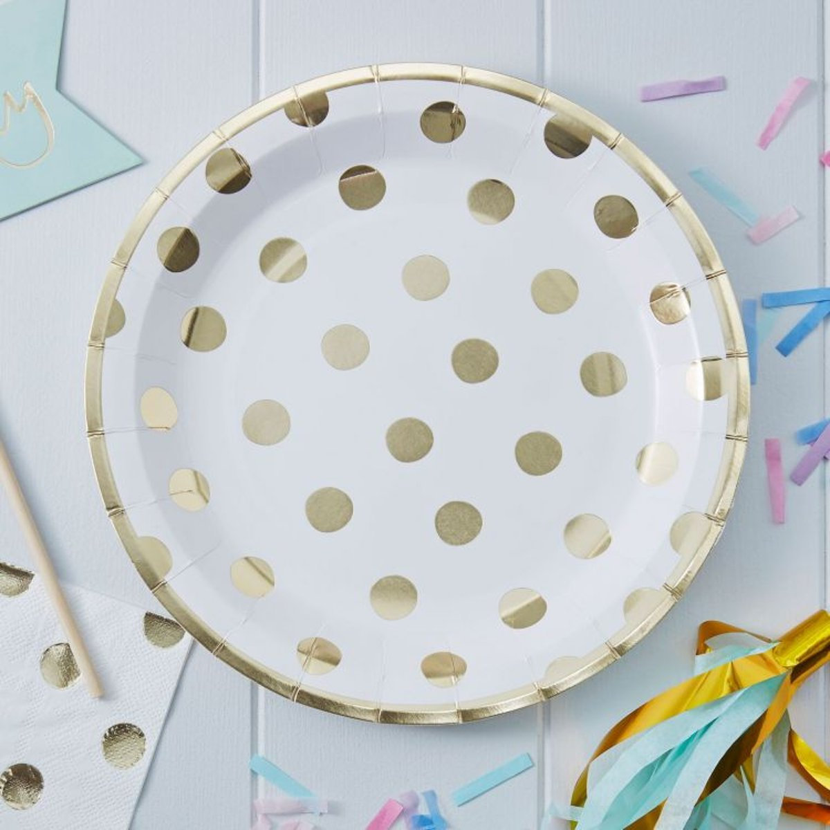 Pick & Mix Polka Dot Paper Plates (8)