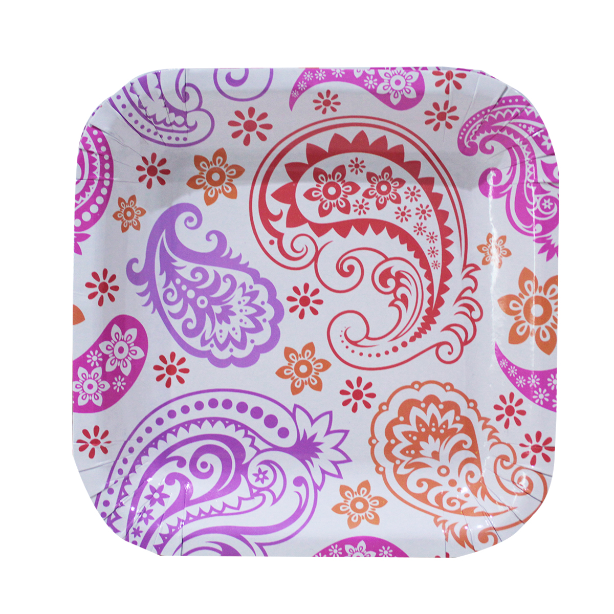 Paisley Patterned Lunch Plates