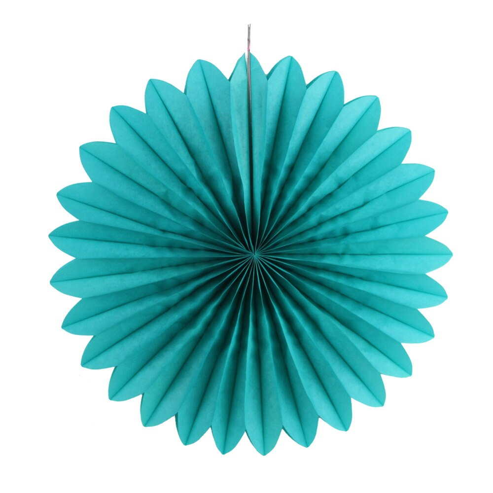 Turquoise Decorative Paper Fan (30cm)