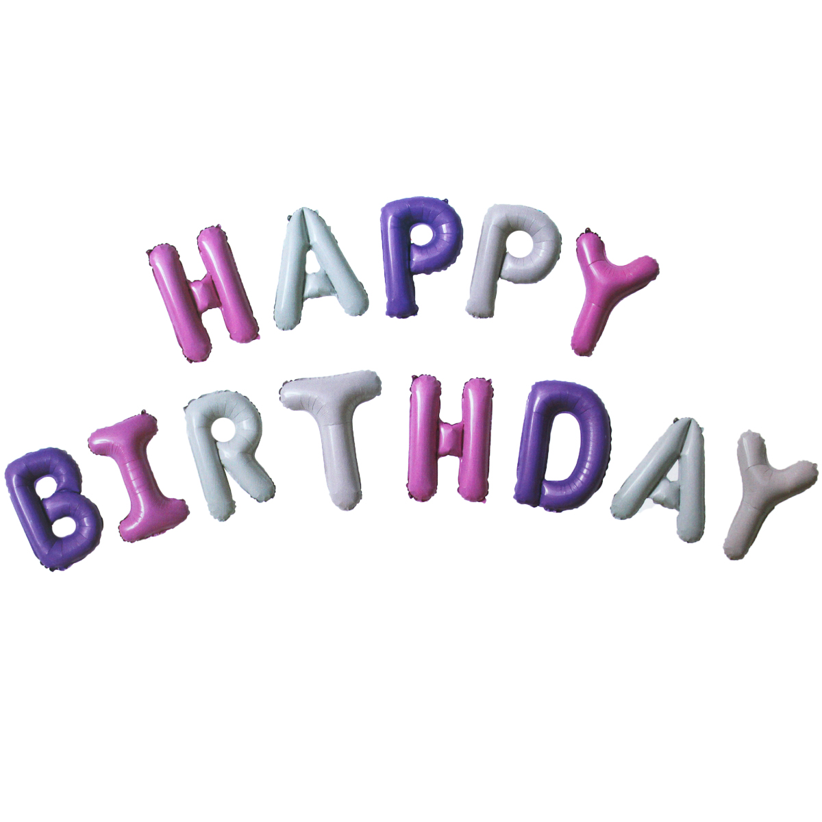 Happy Birthday Pink and Purple Foil Letter Balloon Kit