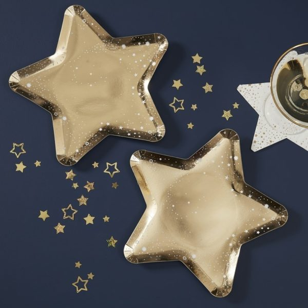 Pop The Bubbly Star Shaped Paper Plates (8)