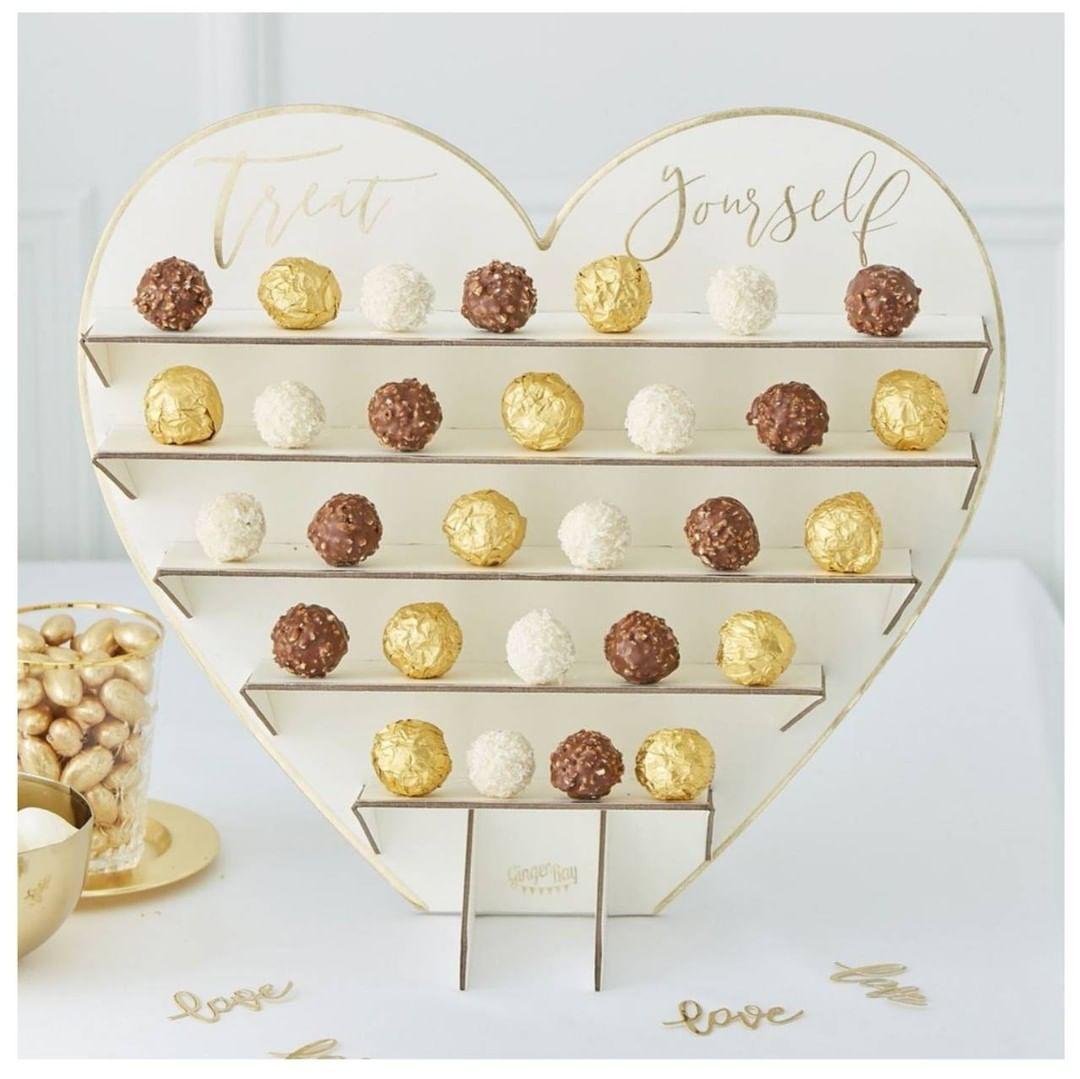 Gold Wedding Chocolate/Sweet Stand