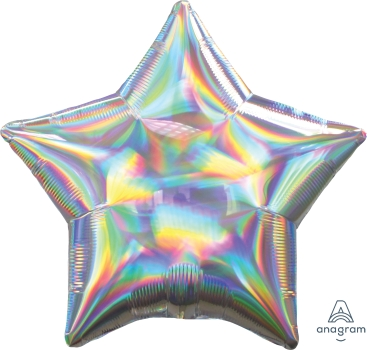 Iridescent Star Foil Balloon 18 inch