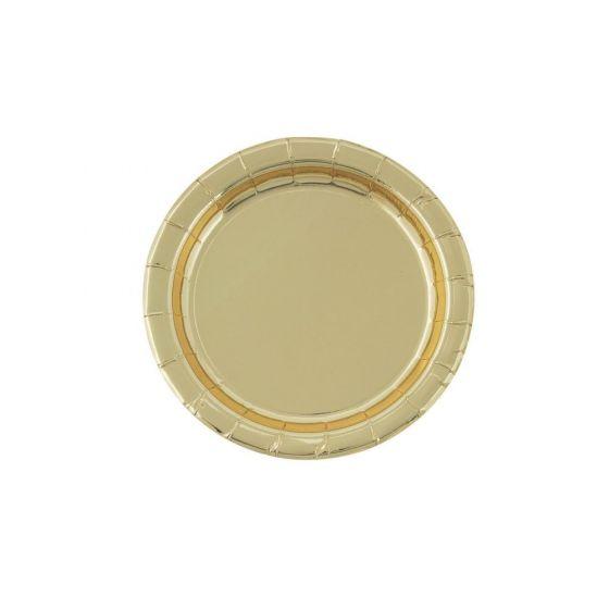 Gold Foil Dessert Plates (8)