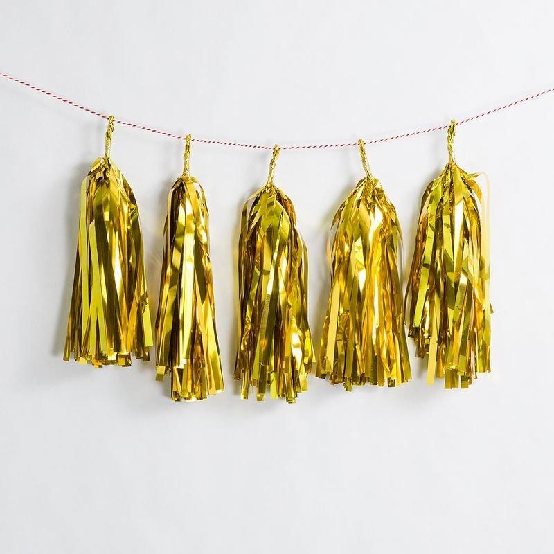 Gold Foiled Paper Tassel Kit