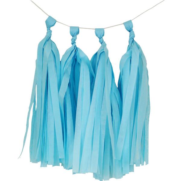 Light Blue Tissue Paper Tassel Kit