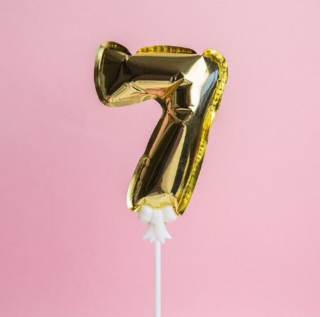 Gold Cake Number Balloon 7 (5 inch)