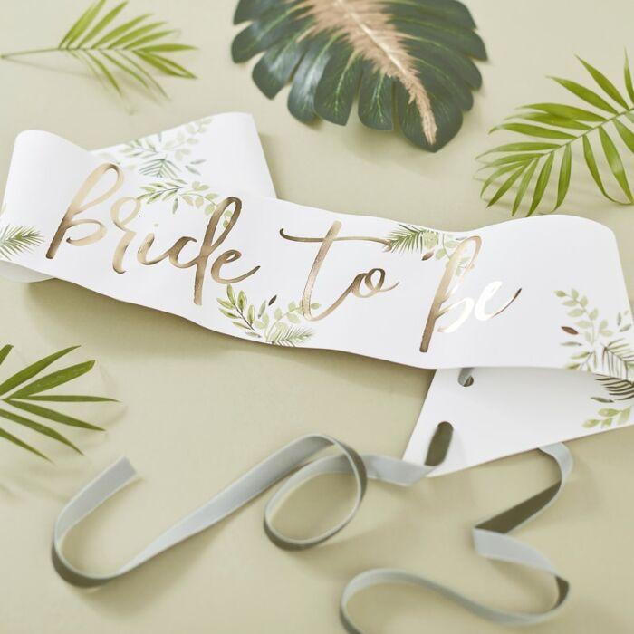 Botanical Bachelorette Bride To Be Sash