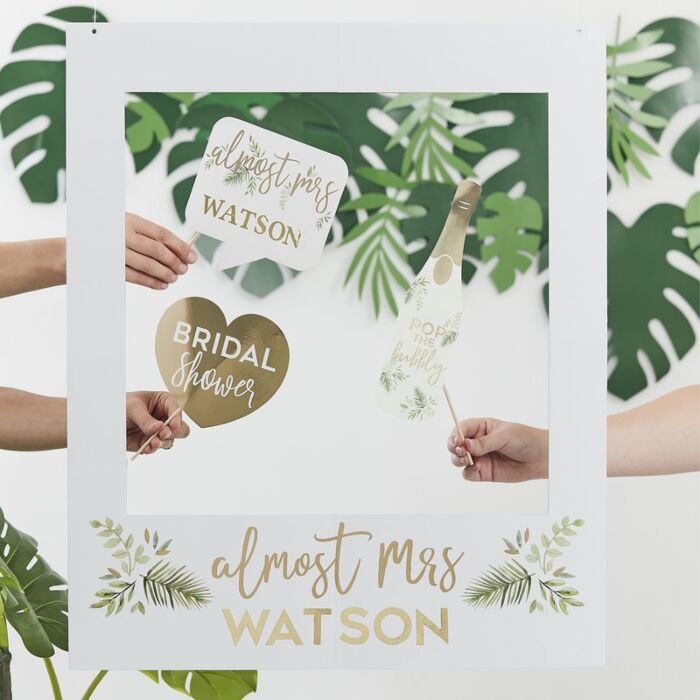 Botanical Bachelorette Customisable Photo Booth Frame