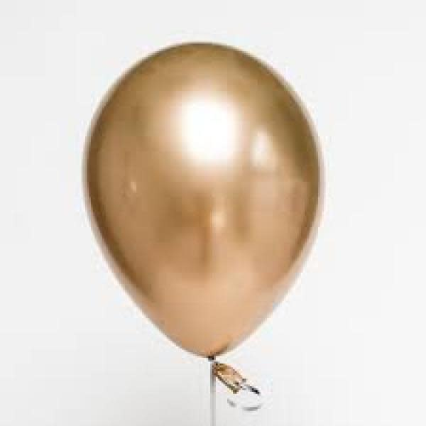 Gold Chrome Balloons (5)