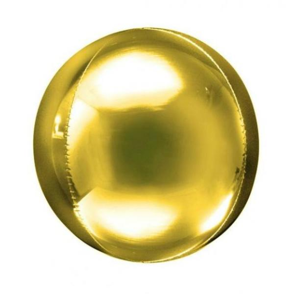 Gold Orbz Balloon 18 Inch
