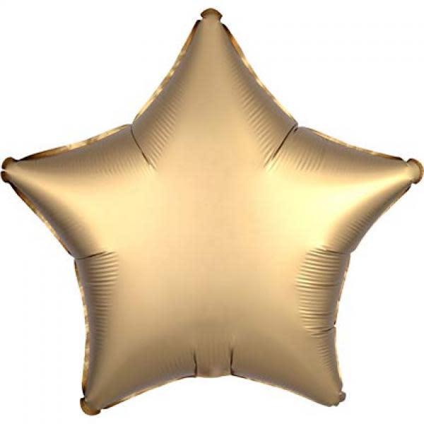 Satin Luxe Gold Sateen Star Foil Balloon 18inch