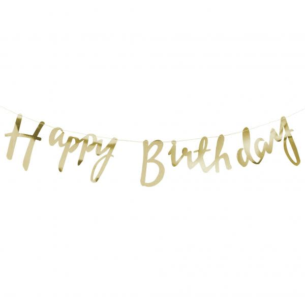 Happy Birthday Gold Foiled Backdrop