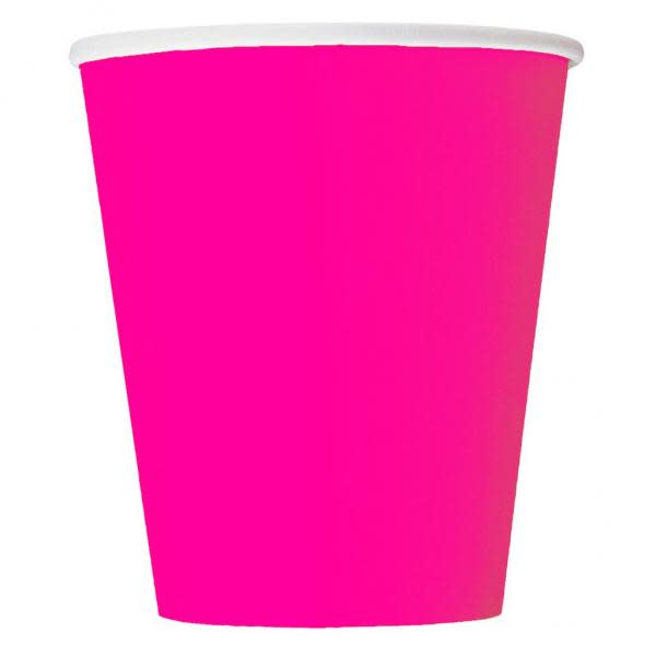 Neon Pink Paper Cups (14)