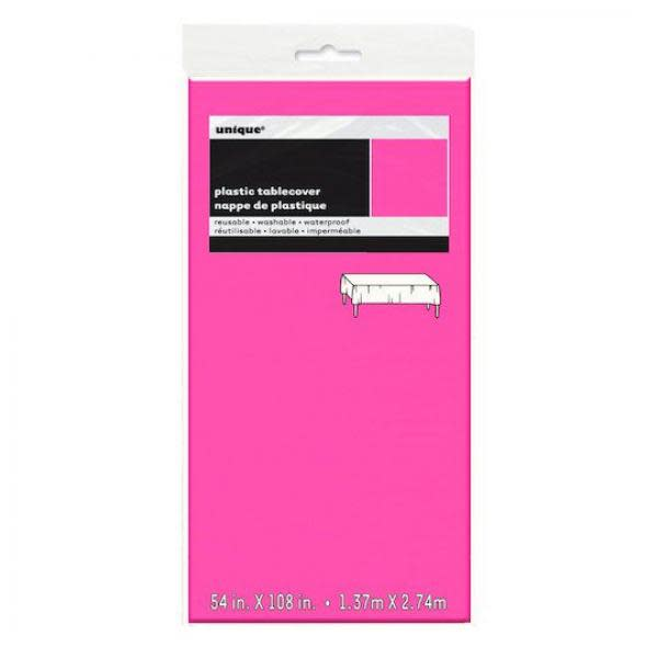 Neon Pink Plastic Table cover