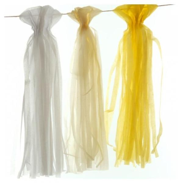 Yellow Tissue Paper Garland