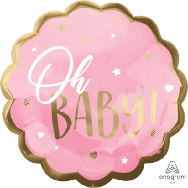 Oh Baby Pink Baby Girl Super Shape Balloon