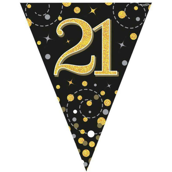 Sparkling Fizz Bunting 21st Birthday