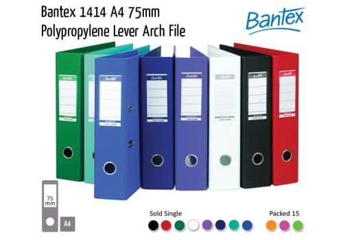 Lever Arch File Polypropylene Bantex 70MM