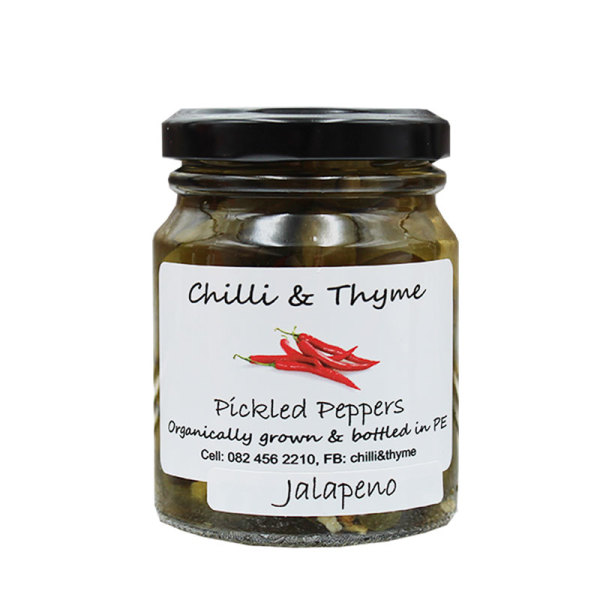 Organic Pickled Jalapeno's (125ml)