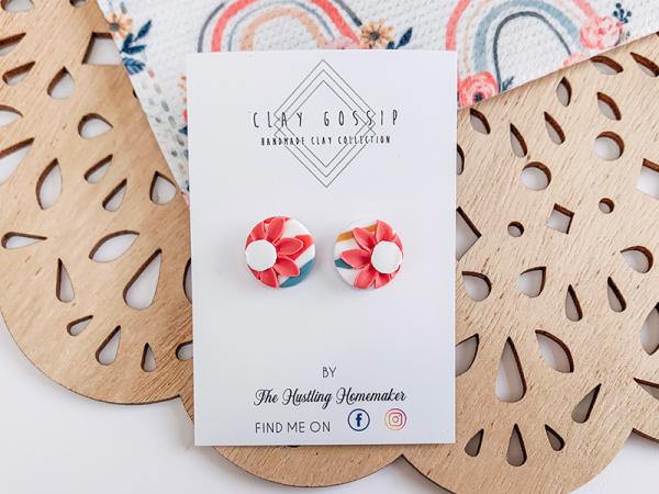 Rainbows Floral - Stud Earrings