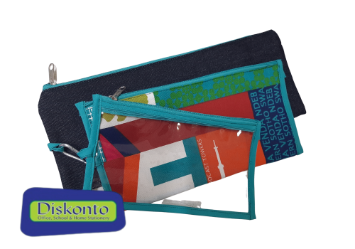 PENCIL BAG AFRICAN PROUDLY 3 IN 1 TEAL