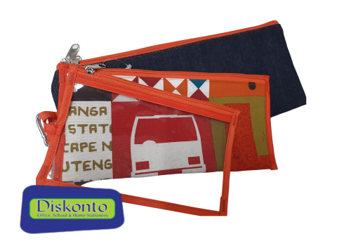 PENCIL BAG AFRICAN PROUDLY 3 IN 1 ORANGE