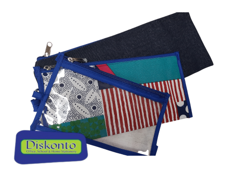 PENCIL BAG AFRICAN PROUDLY 3 IN 1 BLUE