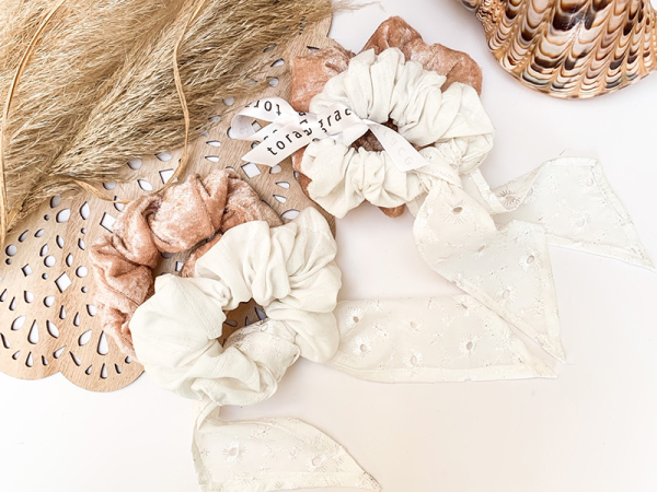 Boho Beach Scrunchie Set