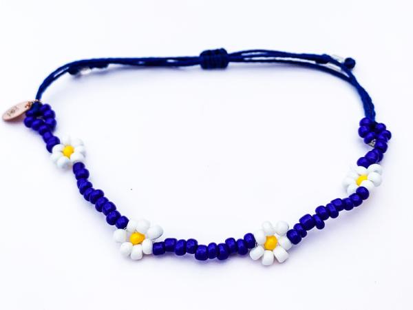 Daisy Chain Bracelet - Blue