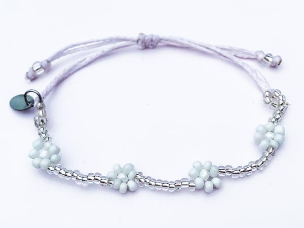 Daisy Chain Bracelet - White