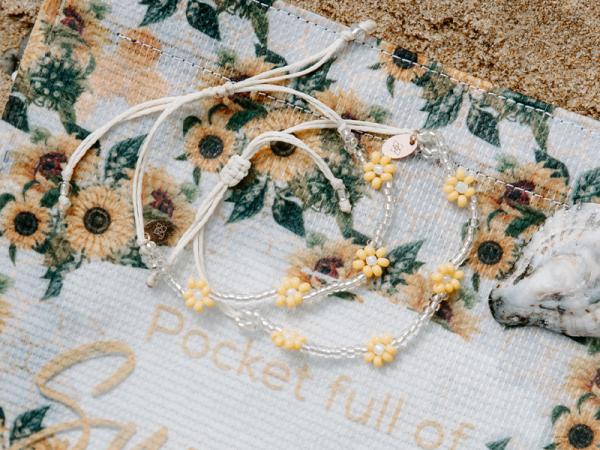 Daisy Chain Bracelet - Yellow