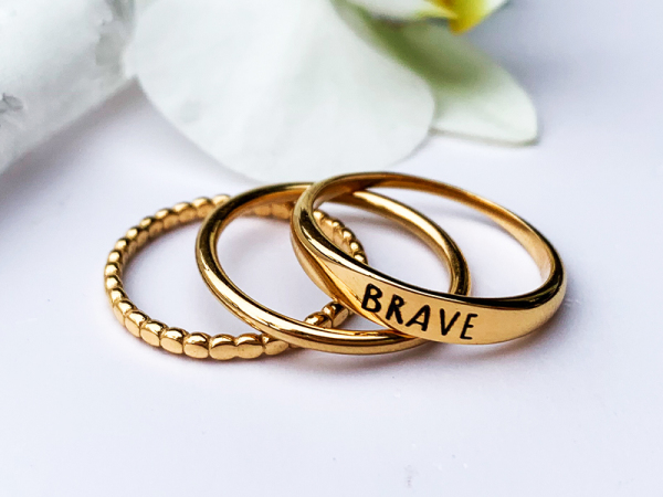 Brave Stacker Ring Trio