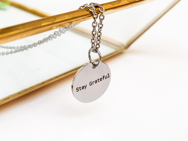 Petite Necklace - Stay Grateful