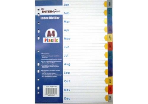 DIVIDER PVC JAN-DEC INTERSTAT