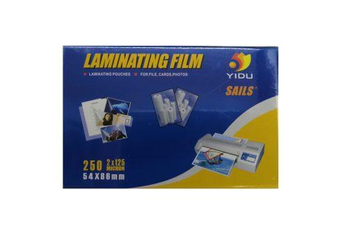 LAMINATING POUCHES 54 X 86 YIDU 250MIC