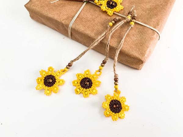 Beaded Sunflowers - Set of 3